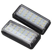iluminación lexus al por mayor-2 unids / lote LED luces de la placa de matrícula 6500 k luz blanca para Toyota Land Cruiser Prado Reiz Mark X para Lexus LX470 LX570 GX470