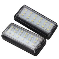 Wholesale toyota cruiser - 2pcs LED Car License Plate Lights for Toyota Land Cruiser Prado Reiz Mark X for Lexus LX470 LX570