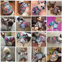 ingrosso abbigliamento francese abbigliamento-Nuovo cane di disegno copre ispessimento caldo Piccolo Cane rivestimento del cappotto sveglio divertente Pet Dog costume d'inverno Pug French Bulldog Abbigliamento