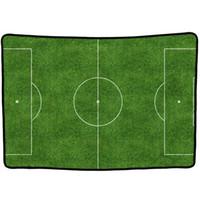 juego de campo al por mayor-EHOMEBUY 3D Blanket Football Field Green Kids Adultos Juego Jugar Personalizado Home Sofa Decor Soft Washable Printed Towel Blankets