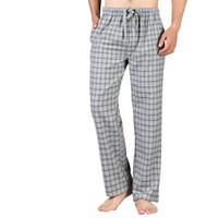 a2d8652c9e42 Cotton Soft Pants Plus Size Cotton Pajamas Pants Men High Quality Men Sleep  Bottoms Microfiber Plaid