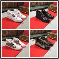 ingrosso i migliori mens di scarpe da sport-Migliori scarpe da uomo alte Gvccl Scarpe da moda di lusso Calzature sportive Stivaletti da esterno di tendenza con chiusura a forma di scatola con confezione originale taglia 38-44
