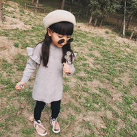 Hot selling 2-12 years old Baby girl Sweaters Thicken Knitted Classic England Style Kids Pullovers girls Cardigan Menina