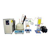 Lab Equipment 5L Short Path Distillation Standard Set w Vacuum Pump & Chiller