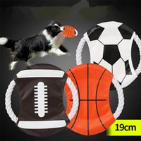 Wholesale large frisbee disc - 2018 World Cup Dog Flying Disc Bite Resistant Canvas Puppy Training Toy Funny Round Pet Frisbee Canvas Pet toy T1I422