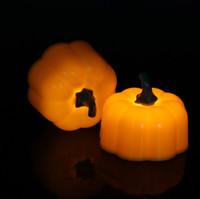 ingrosso ghirlanda di lanterna di halloween-Candele senza fiamma di Halloween Candele a LED Piccola lampada a lume di candela Lampada a candela Lanterna Ghost Festival Decoration