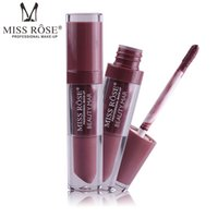 Wholesale lipstick 24 colors matte online - Miss Rose Long Lasting Colors Matte Liquid Lipstick Moisturizer Waterproof Gloss Sexy Red Nude Lip Stick Makeup Tint Pigment Lipstick