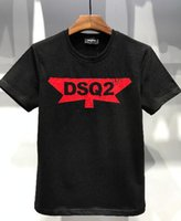 Wholesale cool american brands - Italain Brand D2 T Shirts Men's Summer Short-sleeve Shirts DS flowerPrinted Famous Slim Tees for man Cool Short sleeve 100% cotton 265