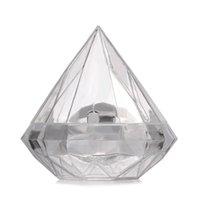 48pcs lot Transparent Plastic Diamond shape Candy Box Clear Wedding Favor Boxes Candy Holders Wedding Gifts Givea Boda