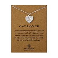 Wholesale white greeting cards - designer Greeting cards jewelry 50 cm long necklace golden & silver Cat paw of accessories pendants popular gifts for young people