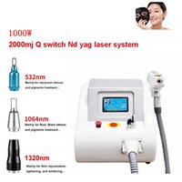 Wholesale portable q switch nd laser for sale - Group buy 2018 New Portable W nm nm nm Tattoo Pigments Removal Q Switch ND YAG LASER Beauty Salon machine
