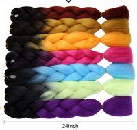 Hot selling Xpression Crochet Braids Synthetic Hair Yaki Braids Afro Braiding Hair 24 Inch Long Kanekalon Hair Extension Jumbo Braids