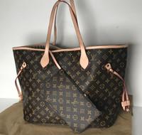 Wholesale quality shopping - A A A Top quality 2 size Europe 2018 luxury brand women bags handbag Famous designer handbags Ladies handbag women shop bags backpack