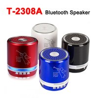 Wholesale mini speakers angel for sale - T A Bluetooth LED Speakers Metal Material Stereo Outdoor Portable Hifi Super Bass Angel Subwoofer Handfree MIC FM USB SD Loudspeaker MP3