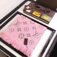 lenços longos venda por atacado-Hot vender marca lenço de algodão moda é um lenço longo inverno projetado para designers de luxo feminino cachecol frete grátis
