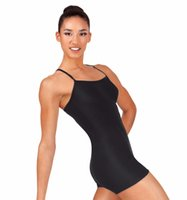 ingrosso leotard nero di lycra-Adult Y-Back Canotta Biketard per Ragazze Gymnastice Body Black Spandex Lycra Dancewear Donna Balletto Short Dance Unitards