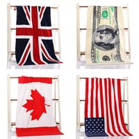 Wholesale Compressed Travel Towel Cotton - 9styles 150cm Cotton Printed Foreign Trade Swimming Towel Sunscreen Shawl Soft Comfortable Beach Travel Sports Towels GGA216 6pcs