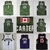 Wholesale camo army - Mens Camo Jersey 1 Tracy McGrady 7 Kyle Lowry 10 DeMar DeRozan 15 Vince Carter 100% Stitched Backetball Jerseys Wholesale Mix Order