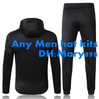 números para jerseys al por mayor-Cualquier traje de entrenamiento de Jersey de fútbol para hombre con capucha kits / nombre y número personalizados / necesidad de contactar a Inquiry si hay inventario