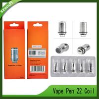 vape pen ersatzspulen großhandel-Vape Pen 22 Coil Ersatzkernkopf 0.3ohm Geschmack Chaser 5 Stück pro Packung SmokTech DHL-freies Verschiffen 0266128