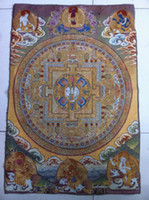 estatua de tara al por mayor-Tíbet Nepal thangka tara buddha Kuan estatua Guan Yin Exorcismo paz riqueza NER08