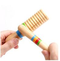 çocuklar için alet toptan satış-Ahşap Guiro Ritim Tezahürat Sopa Çocuk Çocuk Öğretim Yardımcıları Perküsyon Enstrüman Oyuncak