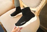 ingrosso nuove ragazze di ragazze dei pattini di stile-new fashion baby shoes calze stivali boy girl Scarpe da ginnastica slip-on casual sneakers high-top scarpe da corsa INS spedizione a pagamento
