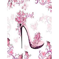 sapatos de diamante rosa sapatos de salto alto venda por atacado-Atacado pintura diamante rosa sapatos de salto alto, pintura diamant, pintura diamante cheio Y1147