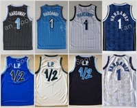 Wholesale Color Blue Jersey Basketball - Retro 1 Penny Hardaway Jersey Throwback 1 2 LP Penny Anfernee Basketball Jerseys Team Color Black Blue White Stitched With Name Size S-3XL