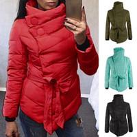Wholesale women s army green cotton jackets for sale - Group buy Warm Winter Coat Women Long Sleeve Irregular Jacket Cotton Outwear Irregular Padded Warm Parka Overcoat Tops Colors LJJO4383
