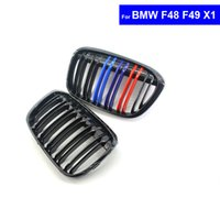 Wholesale 2 M Color Car Front Hood Kidney Grille Grill for BMW X1 F48 F49 Auto Bonnet Grill Racing Grills