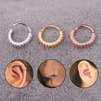ingrosso orecchini ossi per le donne-3 colori 6mm e 8mm intarsio di cristallo colorato orecchio orecchio orecchini a cerchio donne signore di strass accessori gioielli regalo 8C0350