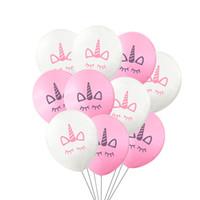 parti dekorasyonları için balonlar toptan satış-10 '' Unicorn Balonlar şişme Lateks Balonlar parti Dekorasyon roman Palloncini Düğün Noel bebek duş doğum günü Noel Cadılar Bayramı Hediye