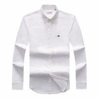 pferde hemden mode großhandel-Drop Shipping 2018 19 Herbst Männer langärmelige Slim Fit Hemden Männer Marke POLO Shirts Mode 100% Oxford Freizeithemd Kleines Pferd Kleidung