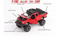 Wholesale toy free wheels - Raptor F150 Model Alloy Car Simulation Big Wheel Toy Alloy Model Boutique Toy Car Free Shipping