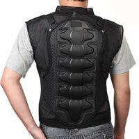 Wholesale body protection gear - Professional Motorcycle Body Armor Jacket Moto Motorcross Racing Chest Back Protector Gear Racing Body Protection Armor Jacket