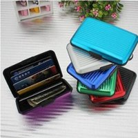 Wholesale business card gifts for sale - Aluminum Alloy Business ID Credit Card Holder Wallet Waterproof Anti magnetic RFID Card Bags Purse Chirstmas Gifts CCA8359