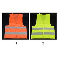 Wholesale cycle safety clothing online - 2018 Vest Clothing Traffic Motorcycle Night Rider GREEN Safety Security Visibility Reflective Cycling Outdoor Sports