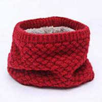 бесконечность шарф зима оптовых-Winter Neck Warmer O Ring Scarf Women Knitting Infinity Scarves Knitted Warm LIC Circle Children's Boys Girls Neckerchief kids