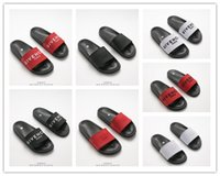 Wholesale stripe loafers - 2018 Paris Sandal Fashion Brand Slide Stripe Loafers Scuffs Slippers Summer Casual Beach Sandal Outdoor Slippers Free Shipping