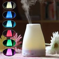 Wholesale Aroma Wedding - Essential Oil Diffuser 100ml Cool Mist Portable Ultrasonic Aroma Humidifier with 7 Color Changing LED Night Light Water-less Auto Shut-off