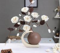 Wholesale acrylic sheet art for sale - Group buy Minimalist ceramic Acrylic creative simple fashion flowers vase home decor craft room bar wedding decoration handicraft figurine
