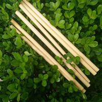 ingrosso birra di bambù-Cannucce di bambù naturale Succo Acqua Birra Paglia Riutilizzabile Eco Friendly Tubularis per la festa nuziale di compleanno 2 5zd CB
