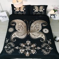 Wholesale king size bedding sets butterflies for sale - Group buy Fanaijia d butterfly Bedding Sets king size black Duvet Cover set with pillowcase queen single Bedline bed set