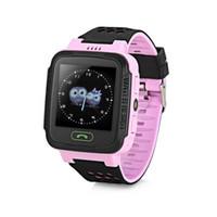 montres gps achat en gros de-Original Y21 Enfants Affichage LCD Écran LCD Smart Watch Téléphone Voix Discutant Bébé Montre-Bracelet SOS Appel Intelligent Enfants Montre Pour Android / IOS