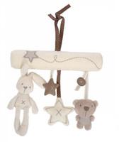 eller serbest tavşan toptan satış-Tavşan bebek asılı yatak güvenlik koltuğu peluş oyuncak El Çan Çok Fonksiyonlu Peluş Oyuncak Arabası Mobil Hediyeler Ücretsiz Kargo B0089