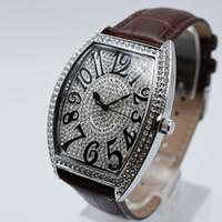 Discount watch diamond high - High quality quartz leather brand aaa luxury mens watches fashion diamond men dress designer watch wholesale hot sale mens gifts wristwatch