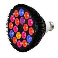 ingrosso banda di bulbo-Spider Cob 36 Watt LED Grow Lampadine 18-LED a 5 bande Spettro completo E26 / E27 Lampada per impianti per piante da appartamento Crescita Veg Bloom