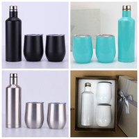 Wholesale Stainless Steel Egg Cups Set Outdoor Wine Bottle Car Cups Wine Glass Tumbler Colors OOA5366