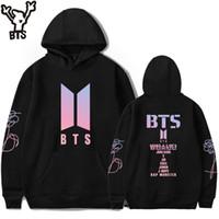 Wholesale bts album - BTS LOVE YOURSELF Women Hoodies Sweatshirts K-pop Fans Sweatshirt New Album DNA Hoodie Sweatshirt Autumn And Winter Clothes 4XL
